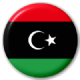 Libya Country Flag 25mm Keyring.